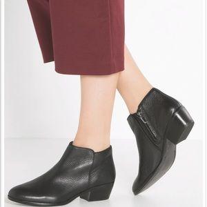 Sam Edelman Petty Black Leather Boots Size 8 ½